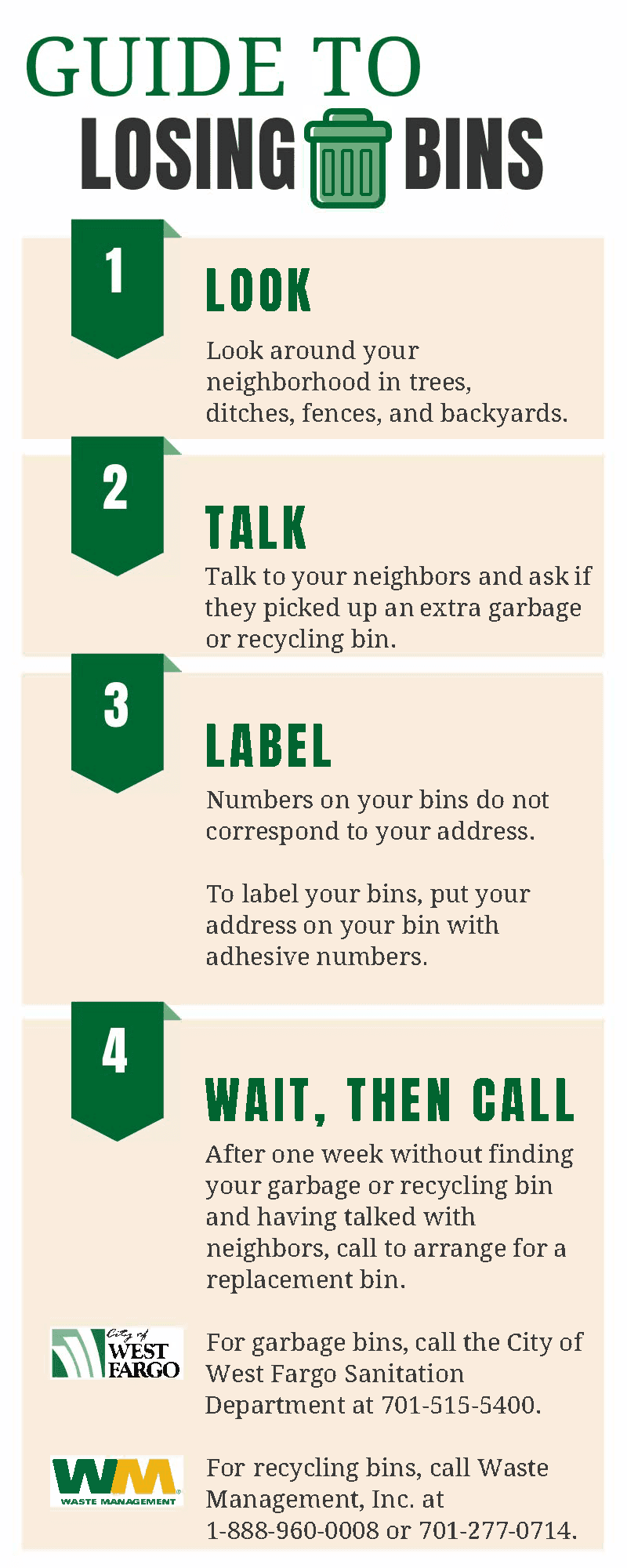 guide to losing your bin